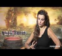 Penelope Cruz on Pirates of the Caribbean, Wearing a Mustache, and Johnny's Parenting Advice!
