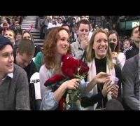 Rachel McAdams at the Raptors Game
