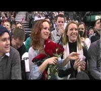 Rachel McAdams at the Raptors Game