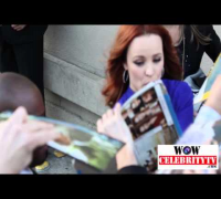 Rachel McAdams spotted signing autographs at jimmy Kimmel in Hollywood