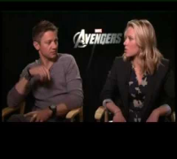Rajeev Masand interview with Scarlett Johansson and Jeremy Renner