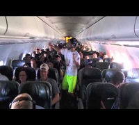 Raw: 'Harlem Shake' at 30,000 Feet