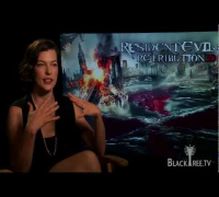 Resident Evil 3D Interview w/ Milla Jovovich