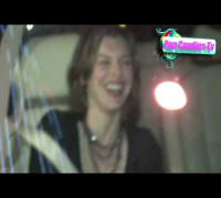 Resident Evil's Milla Jovovich is amused by Paparazzi @ Boa West Hollywood!