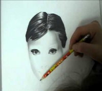 Reylia's speed drawing of AUDREY HEPBURN// tribute to Japan