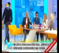 SABA TÜMER Doutzen Kroes ile Bilek Güreşi Yaptı!..