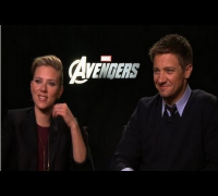 Scarlett Johansson and Jeremy Renner Talk About The Avengers' Black Widow and Hawkeye
