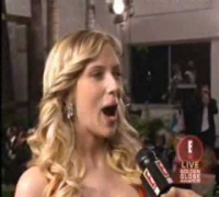 Scarlett Johansson Golden Globes 2006 Red Carpet Interview