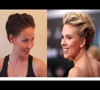 Scarlett Johansson Hair Tutorial from Avengers Premiere - Hair for Prom, Wedding, Party