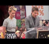 Scarlett Johansson Receives Star on Hollywood Walk of Fame