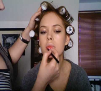 Scarlett Johansson red carpet inspired make-up tutorial.
