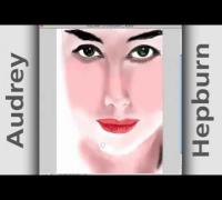 Speed Painting   Audrey Hepburn by alfio salanitri