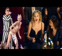 Taylor Swift, Selena Gomez & Rihanna's reaction to Miley Cyrus Performance MTV VMA 2013