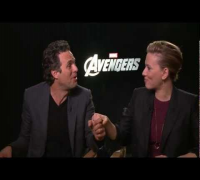 THE AVENGERS Scarlett Johansson & Mark Ruffalo (Black Widow & The Hulk) Exclusive Interview