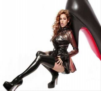 The Stars out tonight - In Latex - Kelly Brook