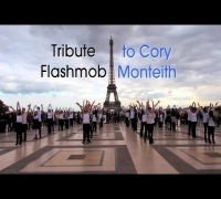 Tribute Flashmob to Cory Monteith in Paris - October 6th 2013