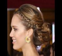 Tutorial de cabelo festa - penteado Jessica Alba Oscar 2008