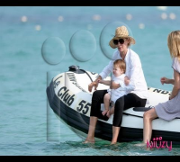Uma Thurman and Arpad Busson in Saint Tropez.