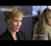 Uma Thurman, Cory Kennedy, Abigail Breslin Arrive for Tommy Hilfiger Fall 2012 NYFW | FashionTV