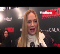 Uma Thurman interviewed at Django Unchained New York Premiere
