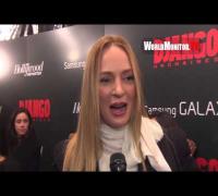 Uma Thurman interviewed at Django Unchained New York Premiere