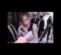 Uma Thurman - Signing Autographs at Friars Club Roast of Quentin Tarantino in NYC