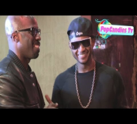 Usher Raymond greets Paparazzi at Justin Bieber AMA After Party in WeHo