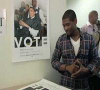 Usher Raymond on BnB Voter Registration Drive