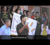 Usher Raymond's visit to Tembisa High School by iSchool Africa