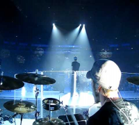 Van the drummer playing opening of show