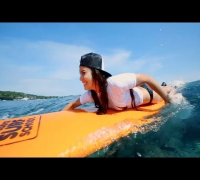 Vanessa Hudgens and Ashley Greene Surf in Oakley's Learn to Ride Event at Oakley Pro Bali