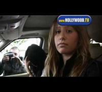 Vanessa Hudgens and Ashley Tisdale At Drive-Thru
