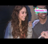 Vanessa Hudgens with Austin Butler greets fan in Hollywood
