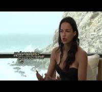 Vin Diesel y Michelle Rodríguez en el Close Up a Rápidos y Furiosos 6