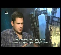 Wentworth Miller & Milla Jovovich on MTV Greece