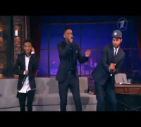 Will Smith and Jaden Smith rapping