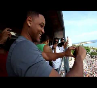 Will Smith e Naldo cantando 'Amor de Chocolate' no Carnaval