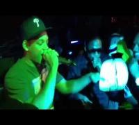 Will Smith freestyles while Doug E Fresh beat boxes (2012)