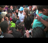 WORLDMAGNUM: ANGELINA JOLIE: WITH SYRIAN REFUGEES on JORDANIAN BORDER (UNHCR)