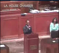 WTF Hurricane Chris Performs Halle Berry At Lousiana State Legislature Session