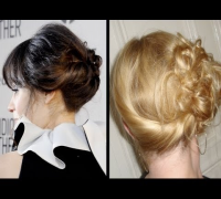 Zooey Deschanel inspired Updo