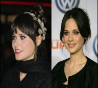 Zooey Deschanel Updo Hairstyles